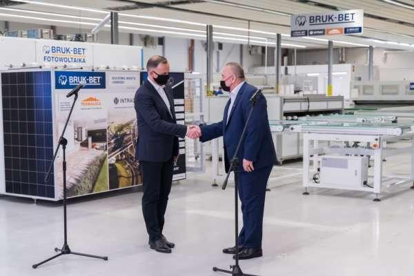 Prezydent Andrzej Duda z wizytą w zakładach produkcyjnych firmy BRUK-BET Sp. z o.o.
