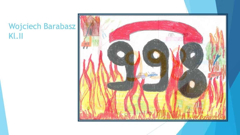 """Uczniowie klas I-III wzięli udział w Konkursie pod hasłem  """"Kiedy dzwonię po straż pożarną"""""""